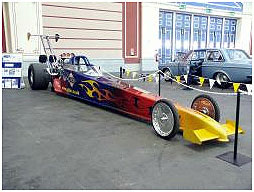 Gold RV Racing Dragster